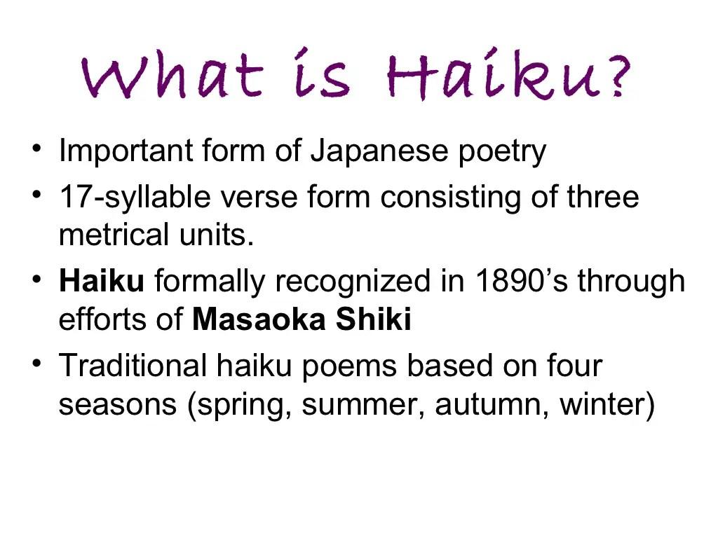 How To Write A Haiku Poems