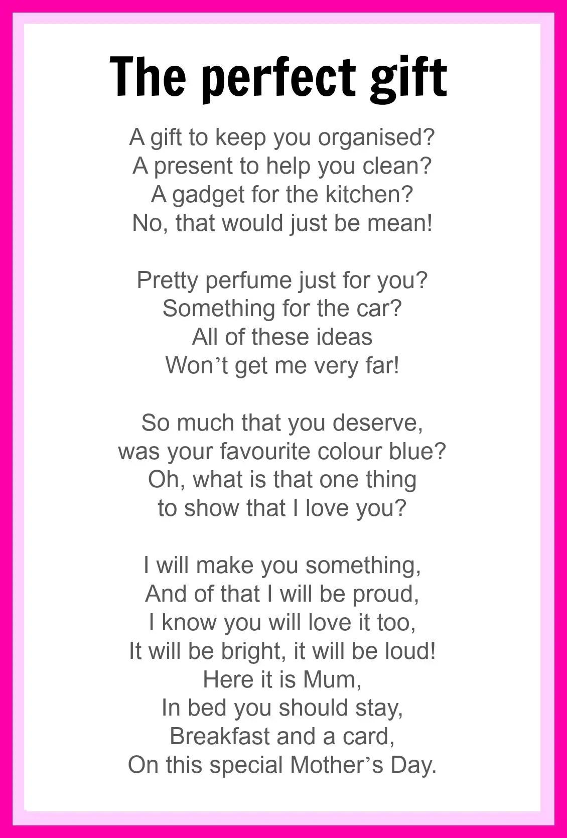 Funny Mom Poems