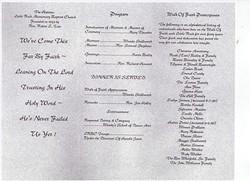 Church anniversary Poems