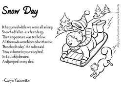 Funny winter Poems