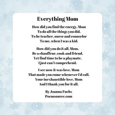 mother poems full of