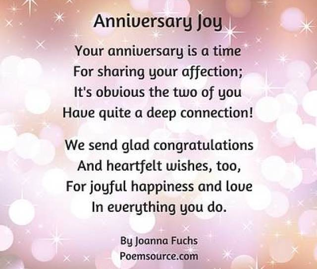 Balloons And Sparkly Pink Background Anniversary Joy Poem Your Anniversary Is A Time For