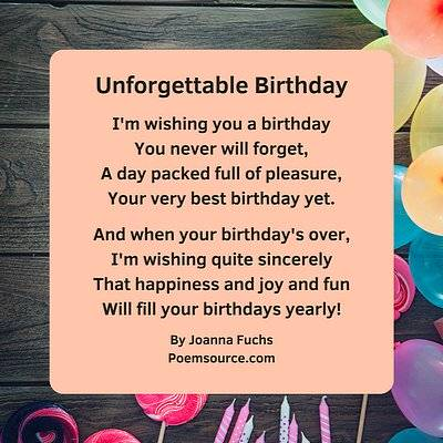 birthday poems are also