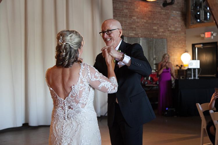 Warehouse 109 Wedding Reception First Dance Photo