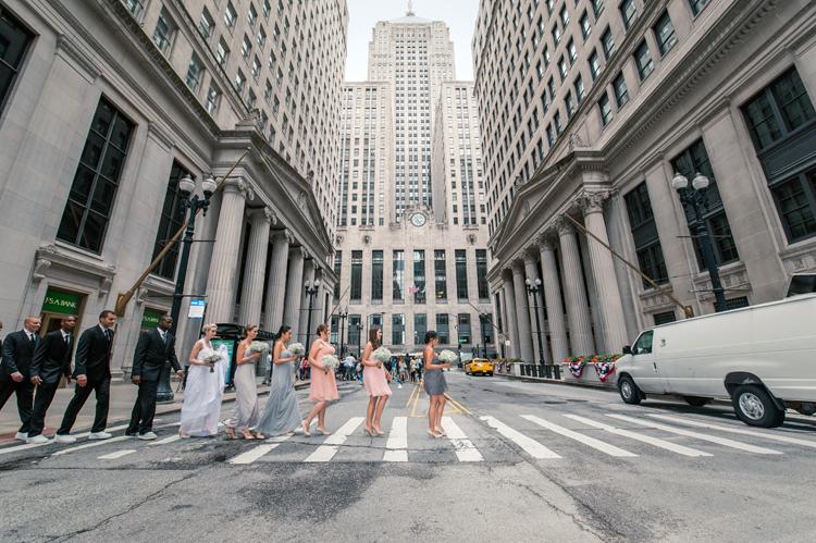 Chicago La Salle Street Wedding Photographs