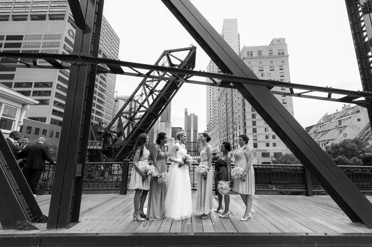 Kinzie Street Bridge Wedding Photography