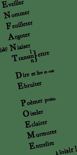 poeme acrostiche