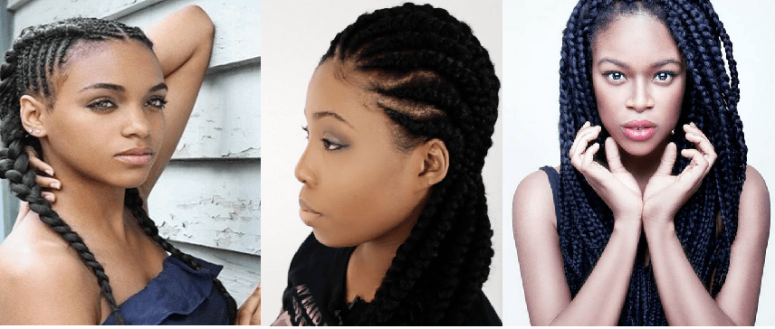 5 Hot New Protective Braid Styles For Natural Hair