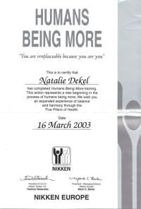 Natalie Dekel - Humans Being More