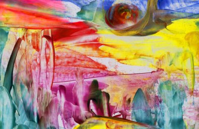 The Forest of Love (detail) - Natalie Dekel, July 2010. Encaustic wax painting.