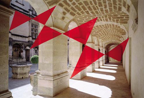 Felice Varini - Six Triangles In Diagonal