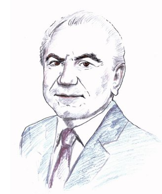 Lord Alan Sugar, founder of Amstrad; author of 'What You See Is What You Get My Autobiograhy.' (Drawn by Natalie Dekel)