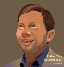 Eckhart Tolle - The Power of Now. Portrait by © Gil Dekel, poeticmind.co.uk