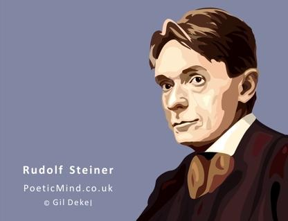 Rudolf Steiner (art: © Gil Dekel).