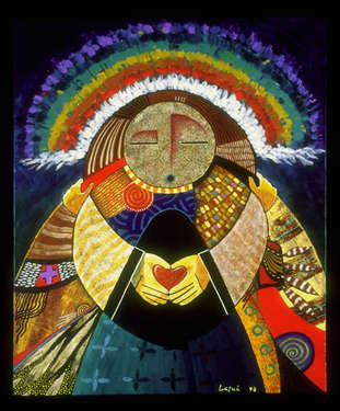 George Herrick-Lasua - Earths Embrace, The Global Art Project for Peace 1998