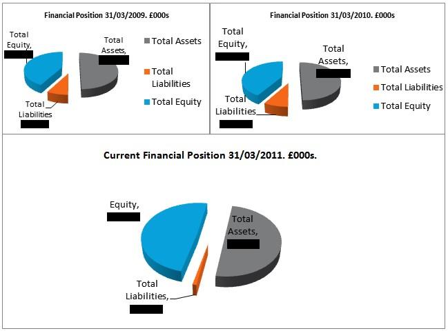 Chart 6: Tate Financial Positions, 2009, 2010, 2011. © Gil Dekel.