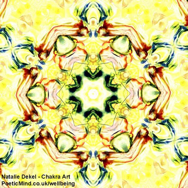 Chakra Art (#19) - by Natalie Dekel. Encaustic Wax technique.