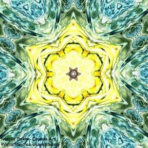 Chakra Art (#30) - by Natalie Dekel. Encaustic Wax technique.