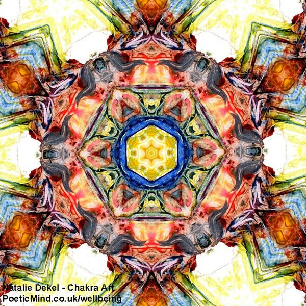Chakra Art (#53) - by Natalie Dekel. Encaustic Wax technique.
