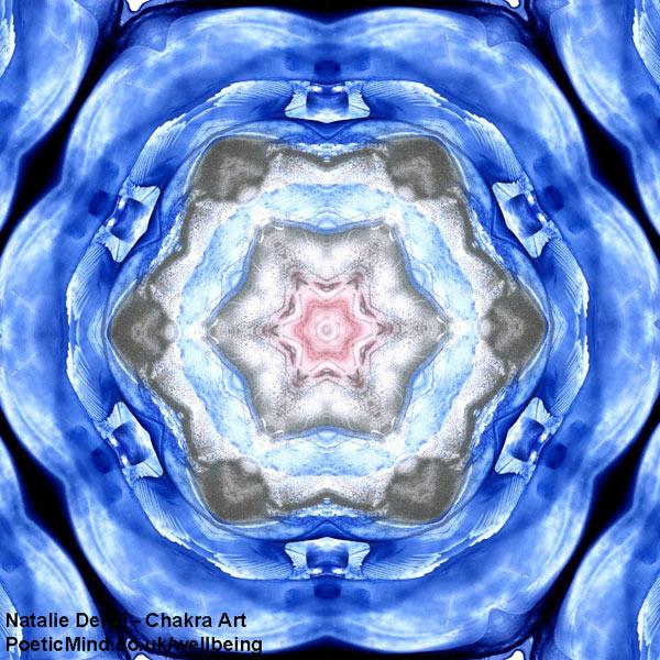 Chakra Art (#59) - by Natalie Dekel. Encaustic Wax technique.