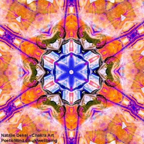 Chakra Art (#65) - by Natalie Dekel. Encaustic Wax technique.