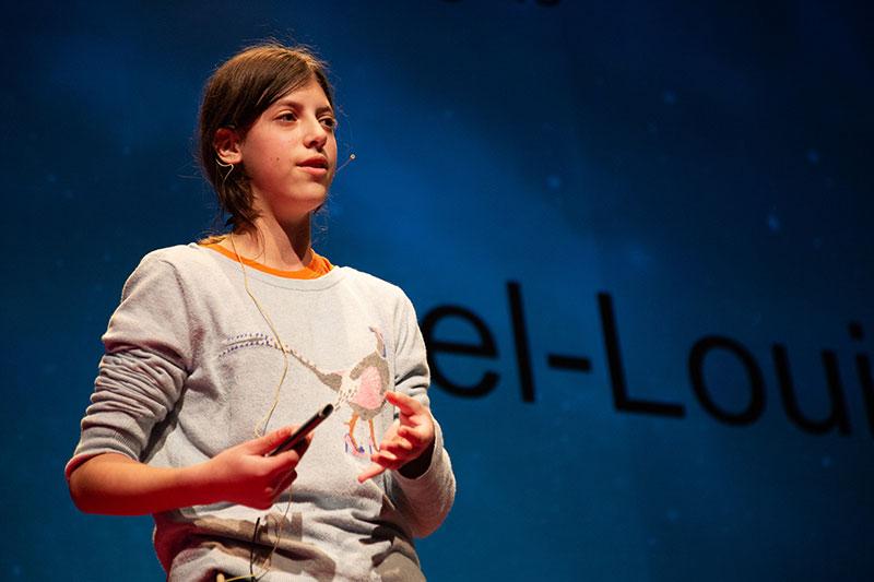 Yael-Louise DEKEL-TEDx talk 2018. Photo copyright (c) TEDxYouth@Bargate.