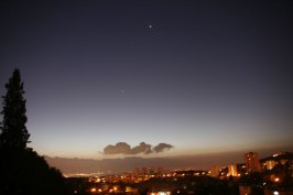 Night in Haifa, Israel. (Photo: Gil Dekel, 2015).