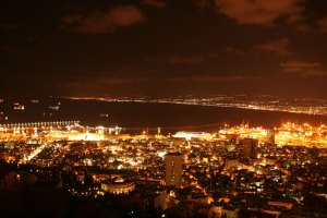 View from Mount Carmel. Haifa, Israel. (Photo: Gil Dekel, 2015).