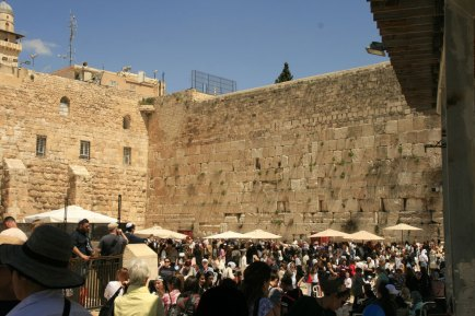 Jerusalem, Israel. The Wailing (Western) Wall, a small reminder of the Holy Temple. (Photo: Gil Dekel, 2019)