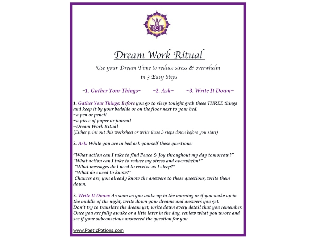 Using Dream Time To Reduce Stress Amp Overwhelm