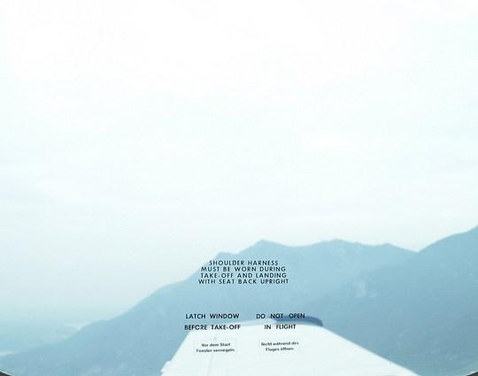 flying over Lake Como