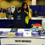 Associate Editor Katharine Ogle at the Poetry Northwest table