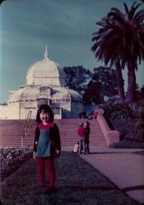 Young Sandra Lim, Golden Gate Park, 1970s