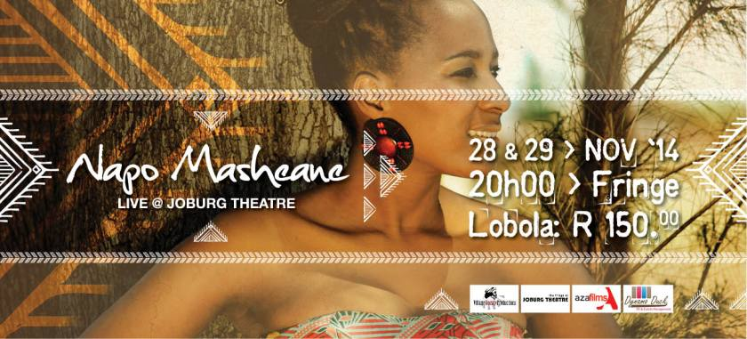 Napo Masheane Live@ Joburg Theatre Poster