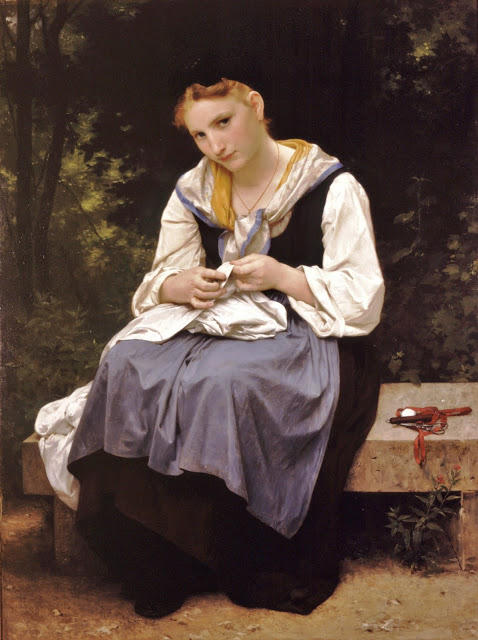 2 William-Adolphe Bouguereau (French Academic painter, 1825-1905) Young Worker 1869