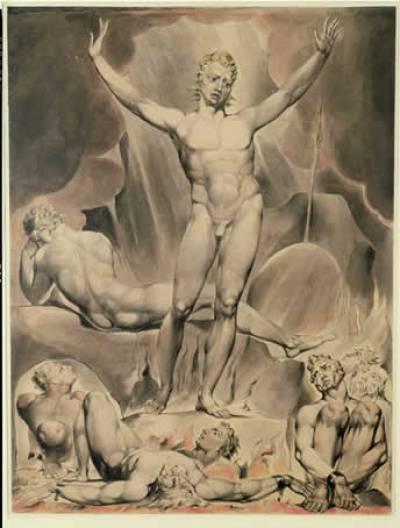 Satan Arousing the Rebel Angels,1808,William Blake