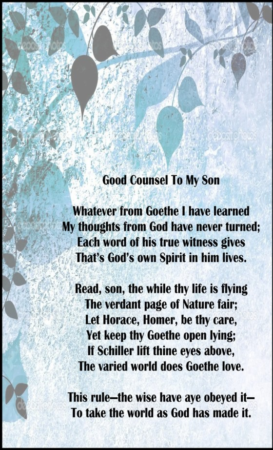 Good counsel to my son
