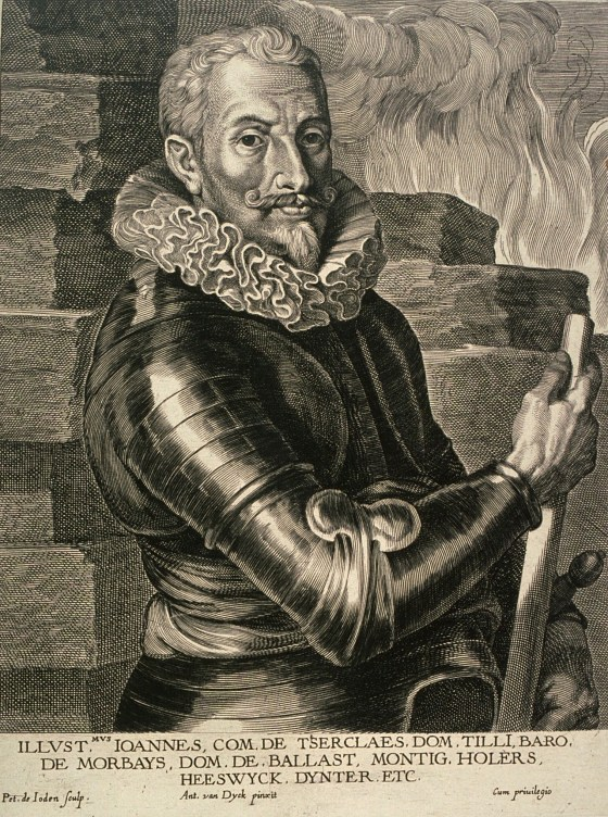 Johan Tzerclaes, Count of Tilly, commander of the Spanish, Bavarian and Imperial armies.