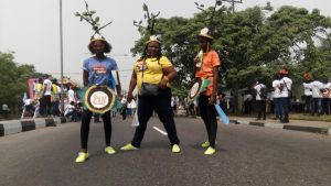 Members of Poets in Nigeria participating in the Calabar International Festival