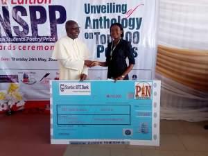 Prof. Christian Anieke with NSPP 2018 winner, Godstime Iberiyenari