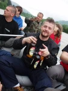 Paweł z gaśnicą :)
