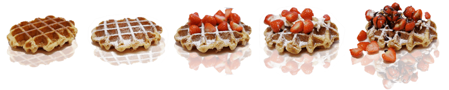 wafels en toppings