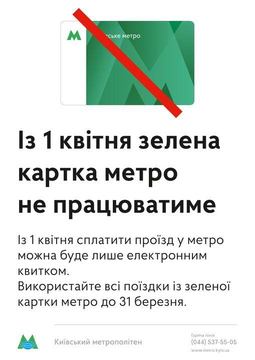 Поспішайте: зелені картки київського метро діють до 31 березня - строк дії, квиток, картка - 165254310 2878617152385681 2143815363797196809 o 1