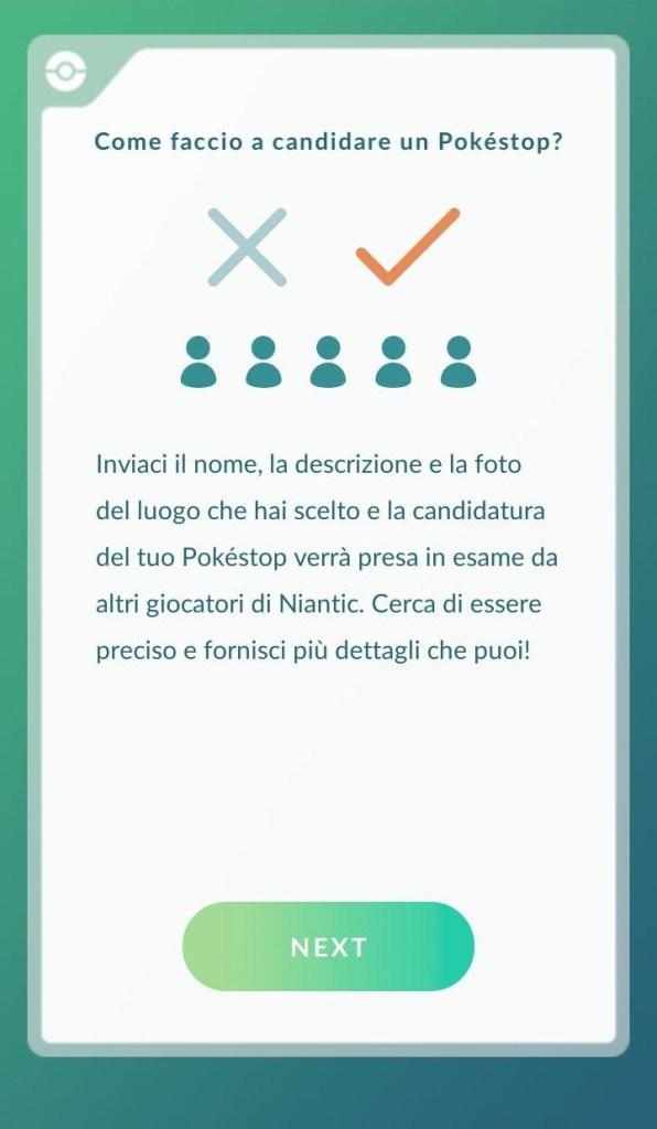 Spiegazione Pokéstop - Schermata 2