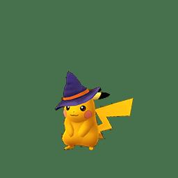Pikachu con il berretto di strega