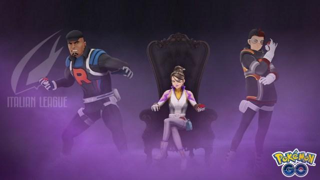 I tre leader del Team Go Rocket