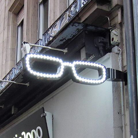 lunette city enseigne pour opticien