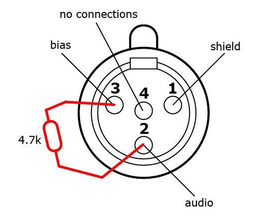 4 pin co mic wiring connections