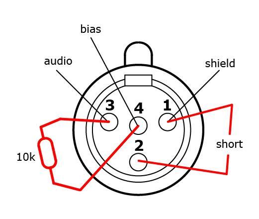 condenser microphone wiring diagram
