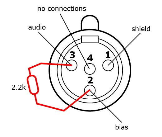 Shure Xlr 4 Pin Connector Wiring Diagram
